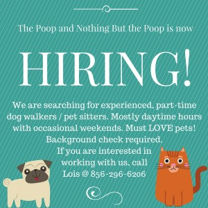 The Poop and Nothing But the Poop is now hiring